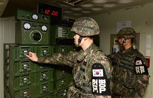 North Korea warns of war over South's propaganda broadcasts • The