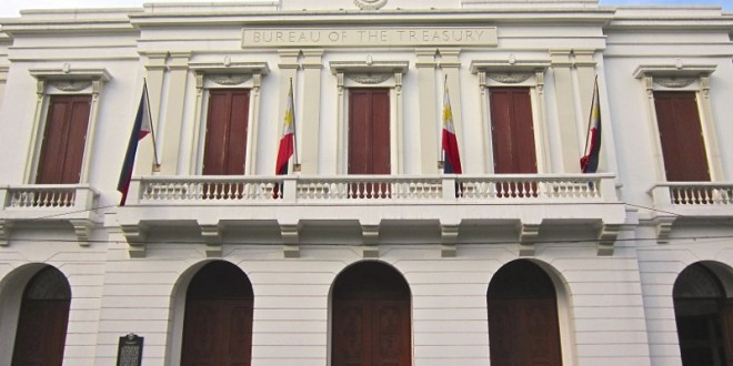 Facade of the Bureau of the Treasury building in Intramuros, Manila. (Photo: Alvin I. Dacanay)