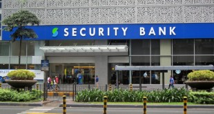 The entrance to the Security Bank Corp.'s main office on Ayala Avenue, Makati City. (Photo: Alvin I. Dacanay)