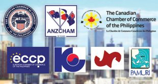 The logos of the different foreign chambers of commerce making up the Join Foreign Chambers of the Philippines (JFC). (Background photo: Jon Manosca via Flickr)