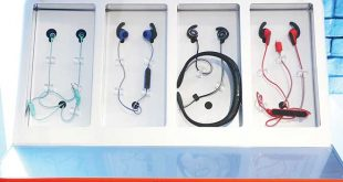JBL Reflect Aware earphones on display during their launch in Makati City on December 7, 2016. ALVIN I. DACANAY