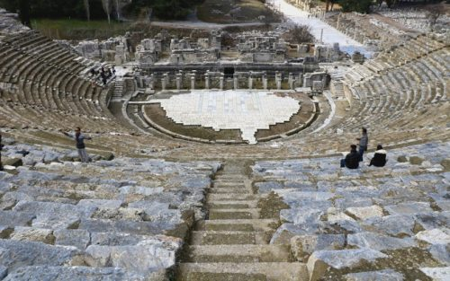 The 25,000-seat Great Theater in the ruins of the ancient city of Ephesus in Turkey's western Izmir province. (Photo: Alvin I. Dacanay)