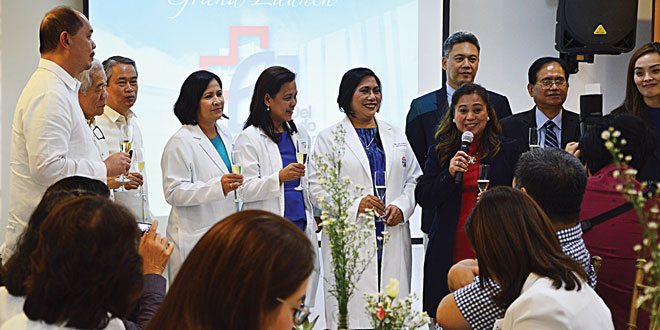 Some of the FDMMC doctors and officers during the unveiling of the upgraded hospital.