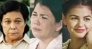 """(From left) Nora Aunor in """"Hinulid"""", Lotlot de Leon in """"Mrs."""", and Janine Gutierrez in """"Dagsin"""". (Screengrabs from the YouTube trailers of the said films)."""