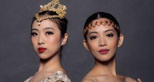 "Ballet dancers Veronica Atienza (left) and Kim Abrogena perform in Philippine Ballet Theatre's latest production ""La Bayadère'. (Photo: Philippine Ballet Theatre Facebook page)"