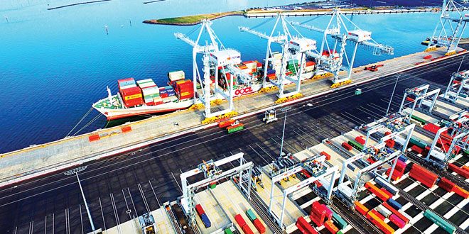International Container Terminal Services Inc.'s (ICTSI) Victoria International Container Terminal (VICT) at the Port of Melbourne, Australia is the first fully automated international container terminal in the world.