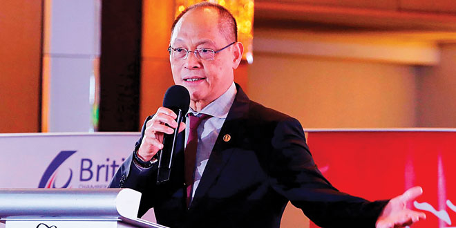 Budget Secretary Benjamin Diokno highlights the increased government spending for various government projects during the Dutertenomics Forum at the Fairmont Hotel in Makati City on August 10, 2017. ALFRED FRIAS/PRESIDENTIAL PHOTO