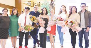 "(From left) Shangri-La Plaza Executive Vice Preisdent and General Manager Lala Fojas; Shang Properties Marketing Director Milen Treichler; Jie Pambid; Rajo Laurel; Apple David; Stephanie Zubiri-Crespi; Karylle Yuzon; Christine ""Tintin"" Bersola-Babao; and Julius Babao."