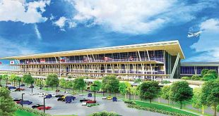 An architect's perspective of PAL's proposed P20-billion Ninoy Aquino International Airport Terminal 2 annex building.