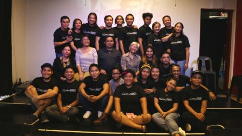 "The cast and creative team of the Philippine Educational Theater Association's (Peta) ""A Game of Trolls: A Martial Law Musical"" pose with representatives from the National Historical Commission of the Philippines (NHCP), Bantayog ng mga Bayani Foundation, and Dakila: Philippine Collective for Modern Heroism, during the musical's press conference at the Peta Theater Center on August 22, 2017. (Photo: Alvin I. Dacanay)"