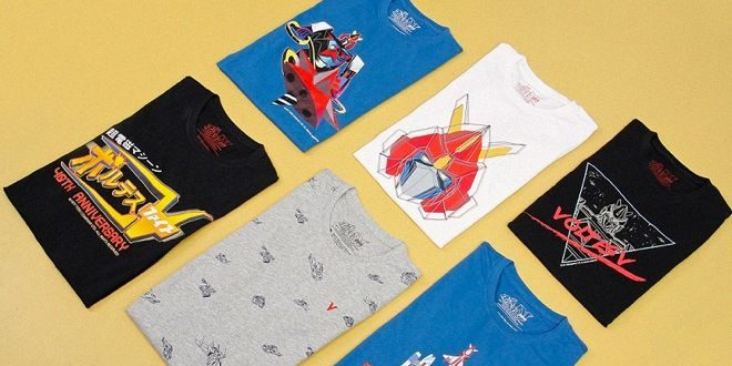 "Some of the ""Voltes V"" shirts being sold in Giordano stores."